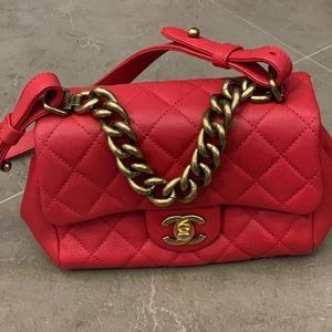 Chanel Red Classic Bag